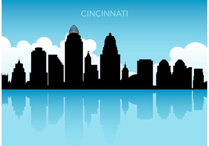 Cincinnati skyline clipart.