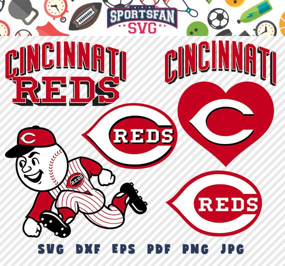 Cincinnati Reds svg pack.