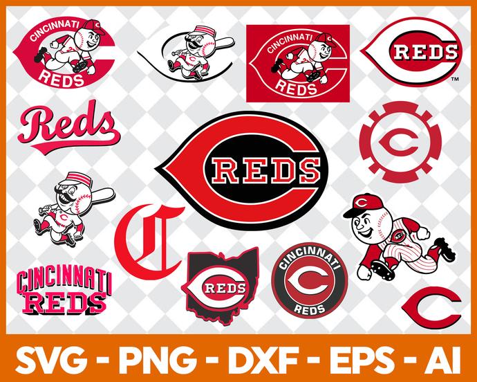 Cincinnati Reds Svg Logo, Major League Baseball SVG, Baseball SVG, MLB svg,  reds svg, reds logo svg, eps png jpg vector files.