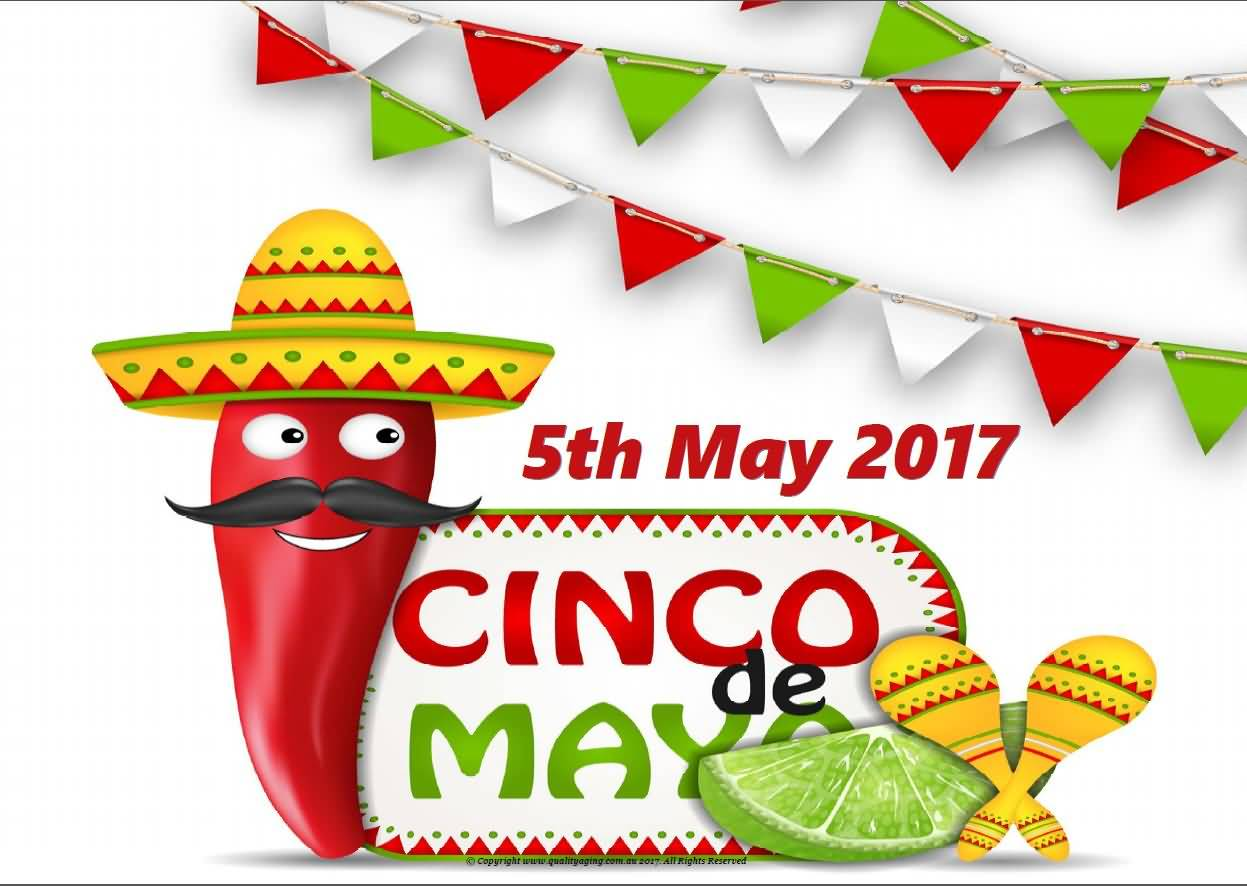 5th May 2017 Cinco De Mayo Red Pepper And Maracas.
