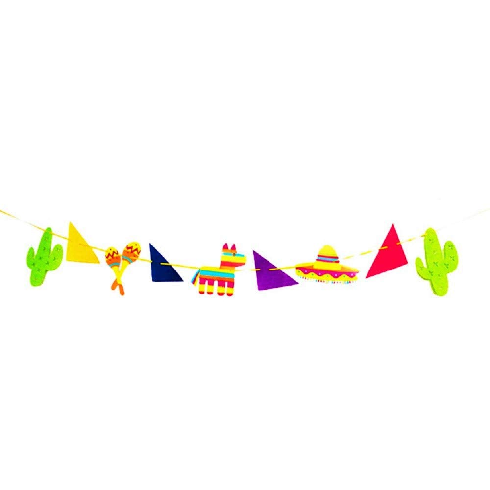 JeVenis Fiesta Banner Llama Garlands Banners Llama Party Decorations.