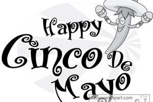 Cinco de mayo black and white clipart 5 » Clipart Portal.