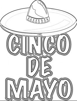 cinco de mayo coloring pages.