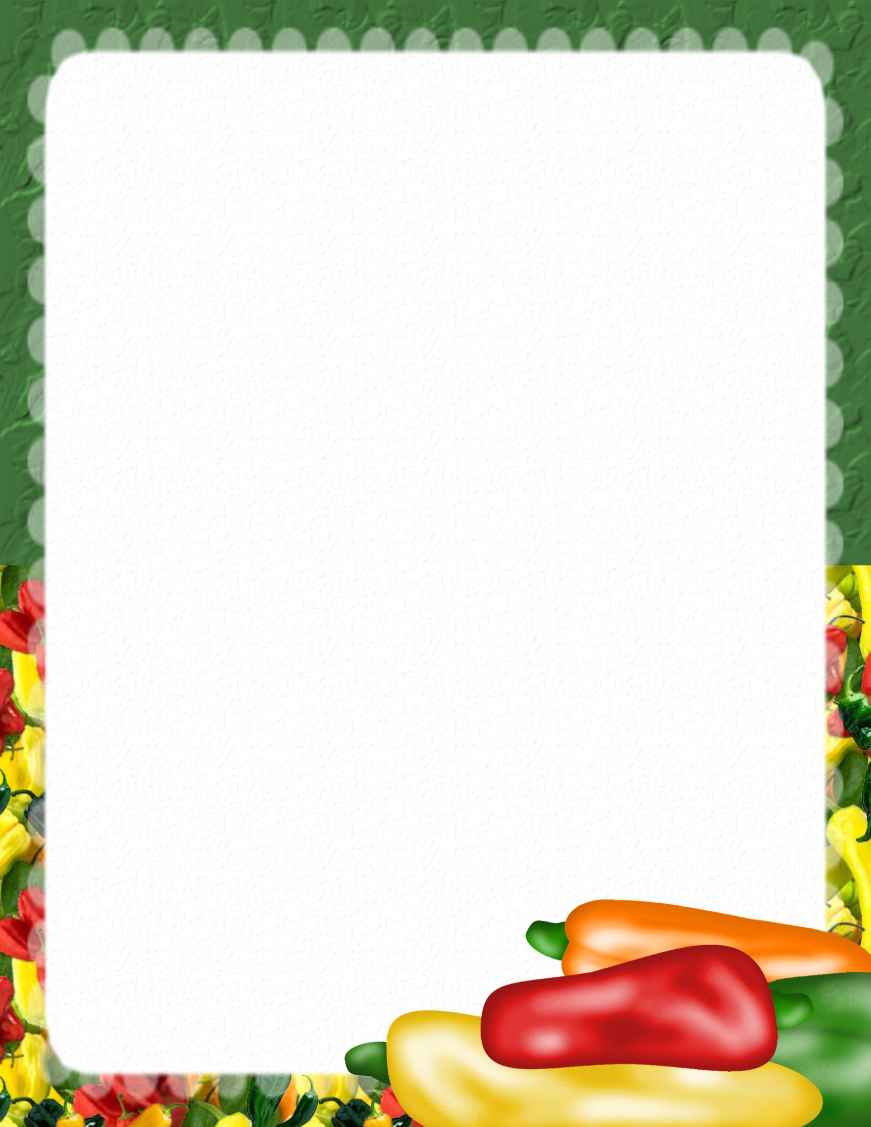 14 Food Paper Border Designs Images.