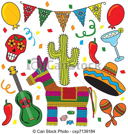 Mexican Party Fiesta Clip art.