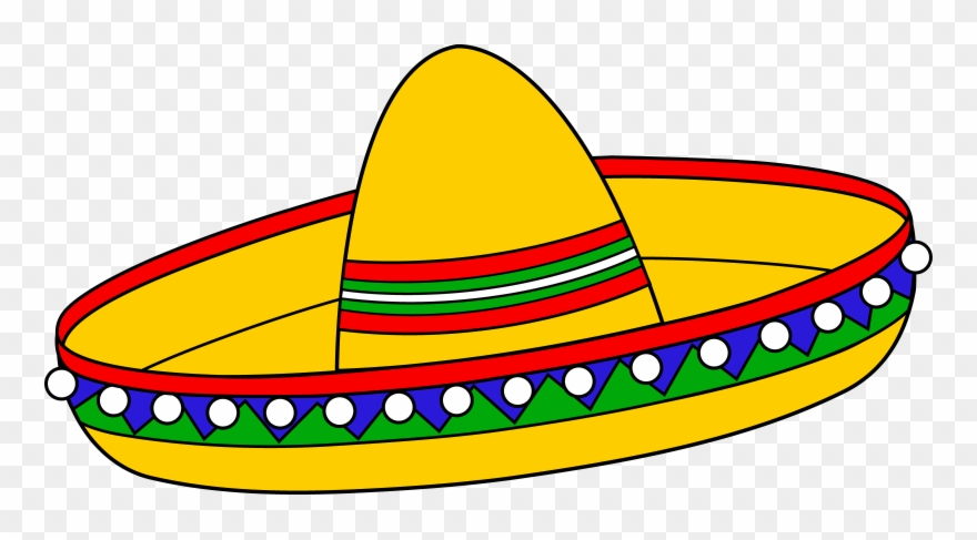 Colorful Mexican Sombrero Hat Free Clip Art Clipart.