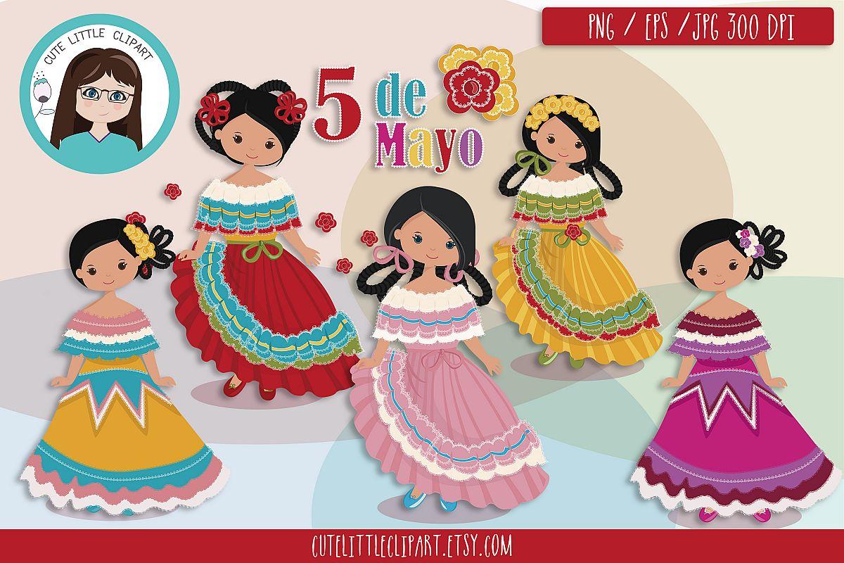 Cinco de Mayo Girls clipart.