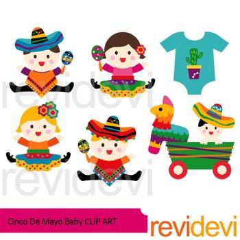 Cinco de mayo baby clip art.