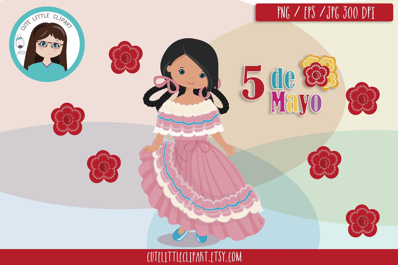 Cinco de Mayo Clipart, Mexican girls Clipart.