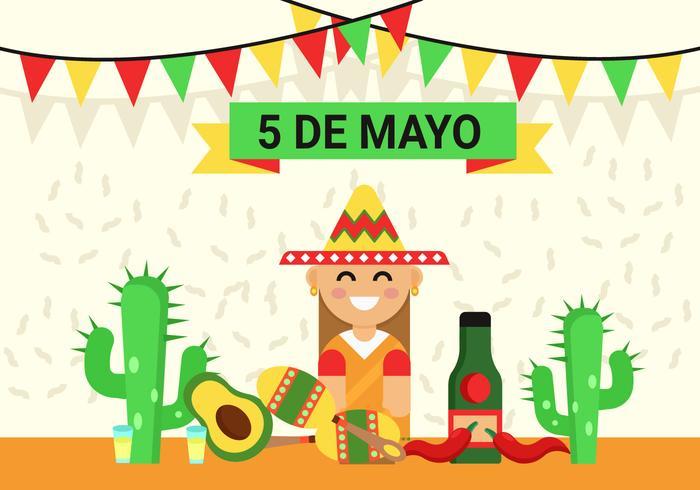 Cinco de Mayo Background Illustration.