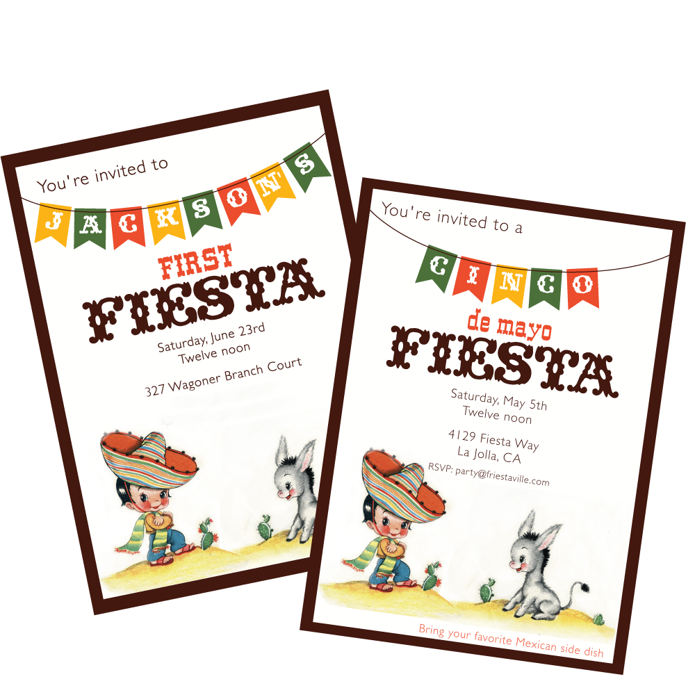 Wants and Wishes Party printables — Vintage Cinco de Mayo or.