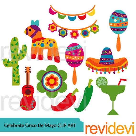 Celebrate Cinco De Mayo clipart, Mexican cinco de mayo clipart.