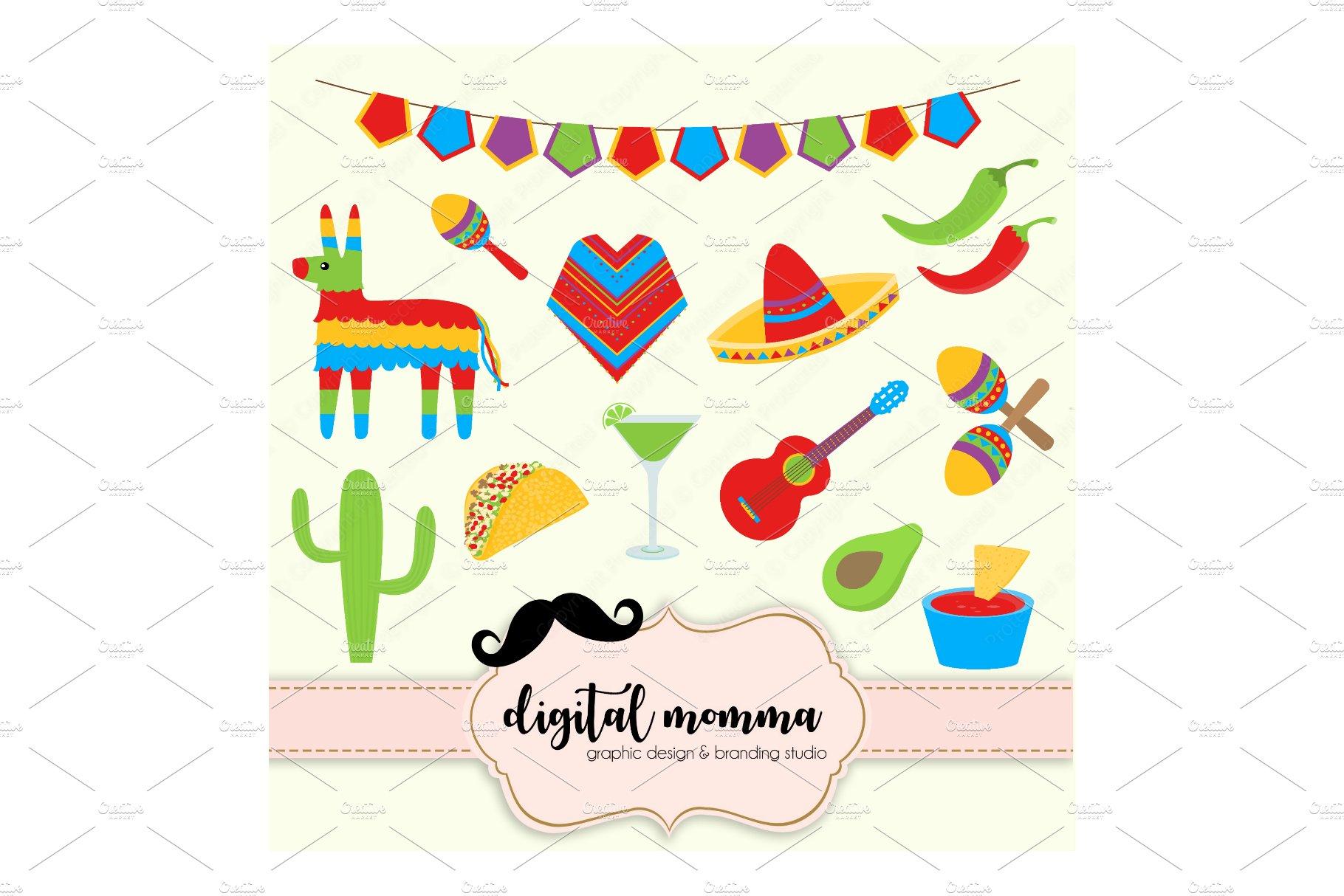 Fiesta, Cinco De Mayo, Clipart Set.