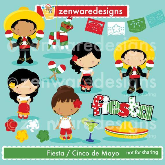 Cinco de Mayo Fiesta Clipart.