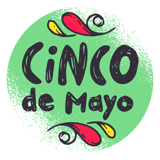 Cinco de mayo badge emblem sticker.