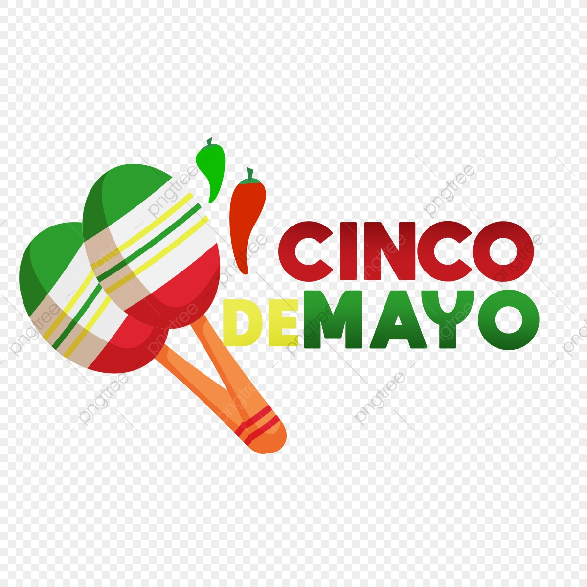 Cinco De Mayo Design Element, Mayo, Cinco, Fiesta PNG Transparent.
