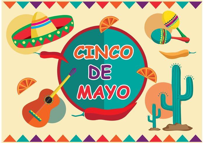 Cinco de Mayo Festival Vector.