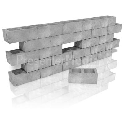 Cinder Block Wall Hole.