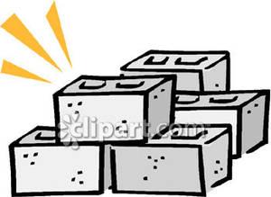 Stack of Cinder Blocks.