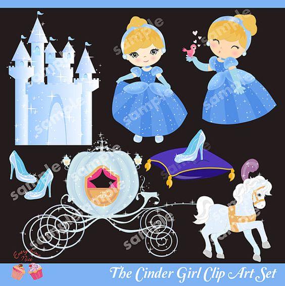 The Cinder Girl Clip Art Set.