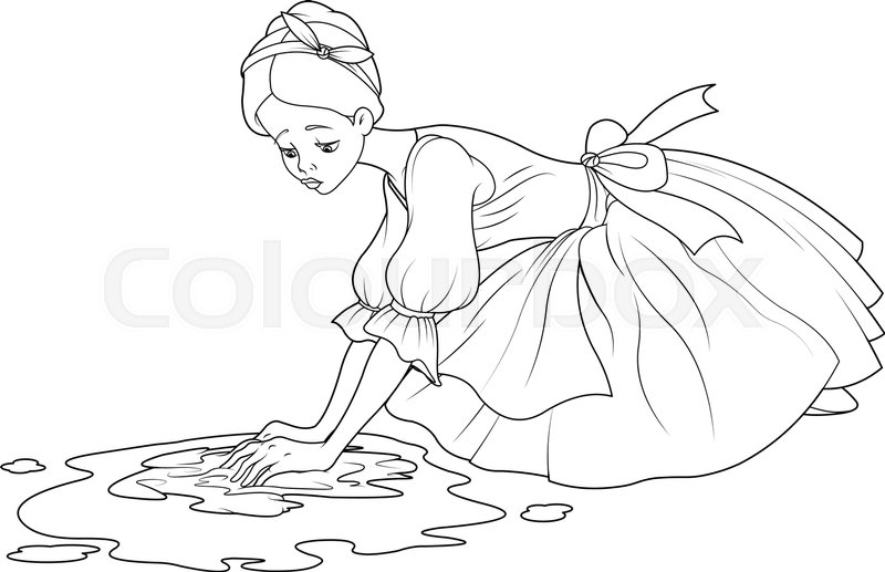 Cinderella clipart black and white 5 » Clipart Station.