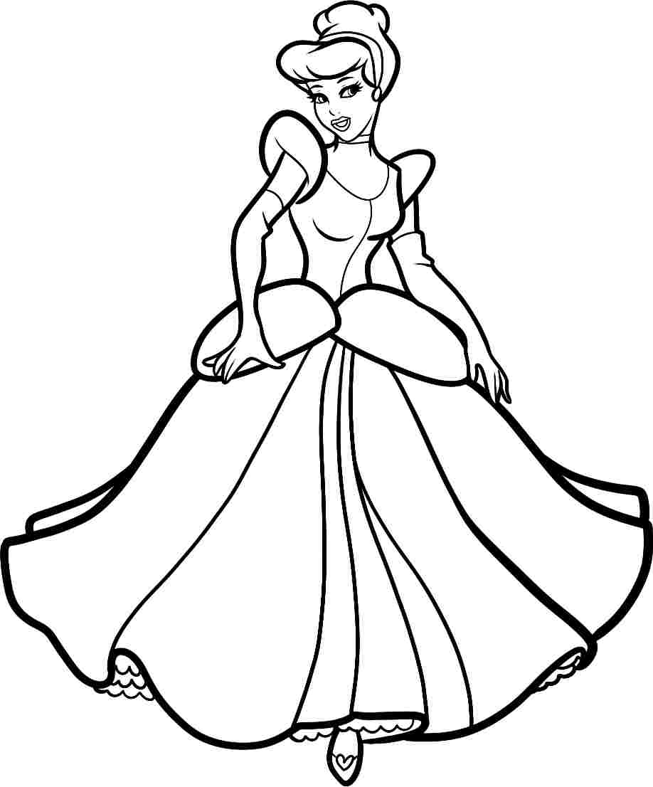 Cinderella clipart black and white 10 » Clipart Station.