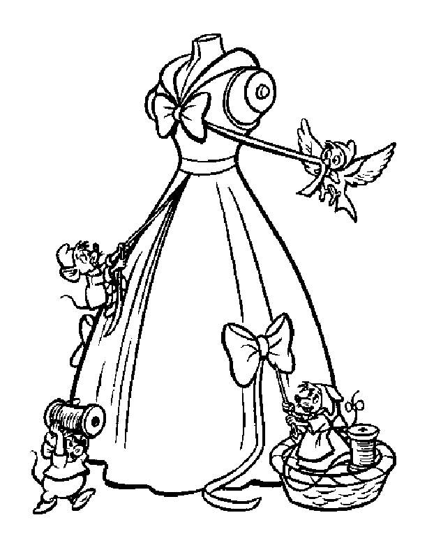 Cinderella Cartoon Black And White.