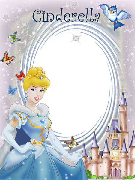 Transparent Frame Princess Cinderella.