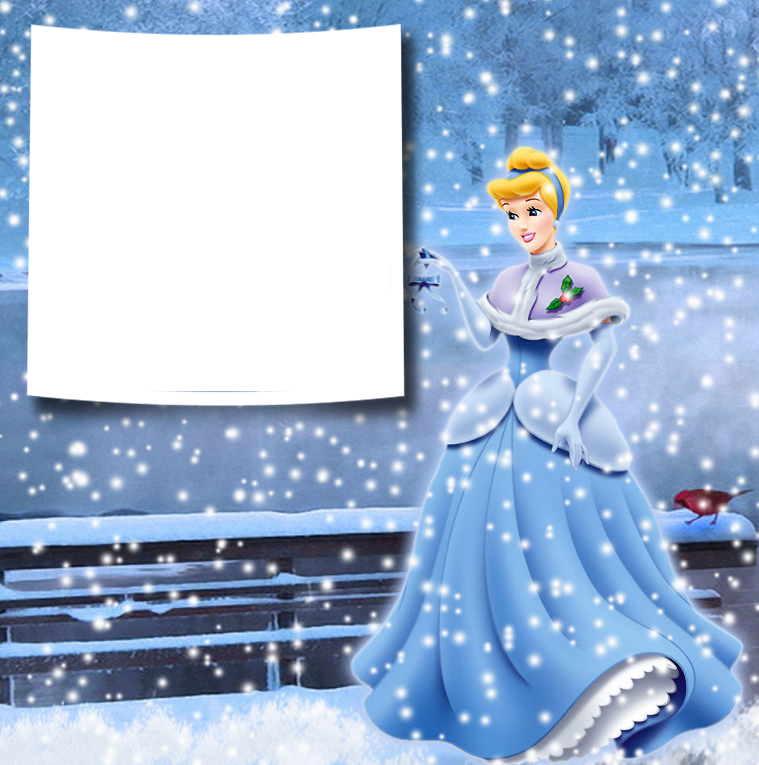 Transparent Christmas Winter Princess Cinderella PNG Photo.