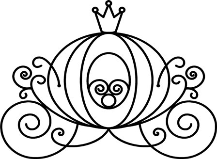 Free Cinderella Carriage Black And White Clipart, Download.