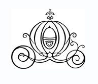 Cinderella Carriage Black And White Clipart.