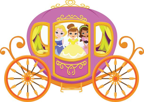 Princess Carriage Clip Art Illustrations, Royalty.