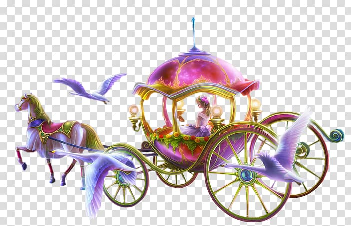 Disney Princess Cinderella carriage art, Carriage Icon, carriage.