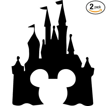 Amazon.com: ANGDEST Cinderella Castle Clipart (Black) (Set of 2.