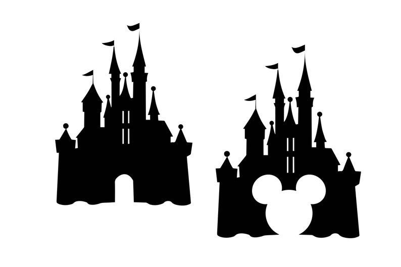 Disney castle svg, Castle clipart, Disney svg Disney dxf, castle  silhouette, Mouse svg, Mickey dxf, Disney vector.