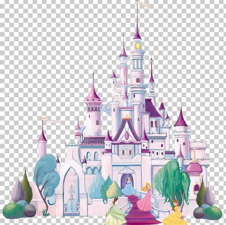 Mural Wall Decal Disney Princess Castle PNG, Clipart, Castle.