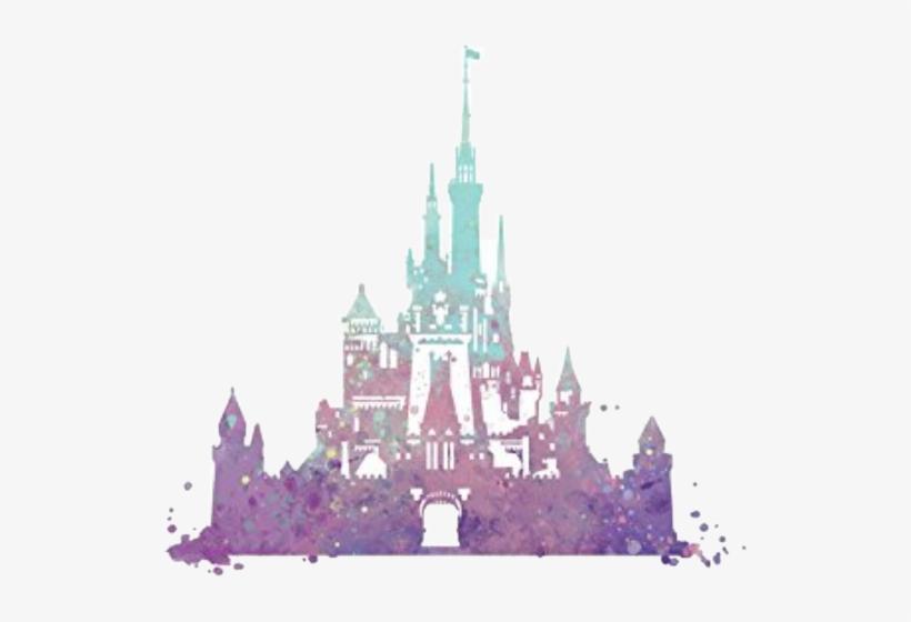 Disney Cinderella Castle Silhouette.