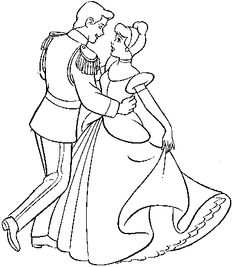 Cinderella Clipart Black And White.