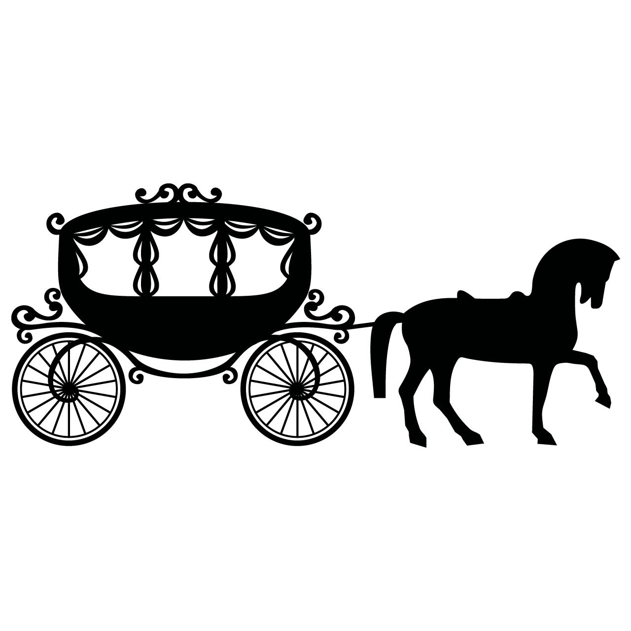 Cinderella horse and carriage clipart 1 » Clipart Portal.