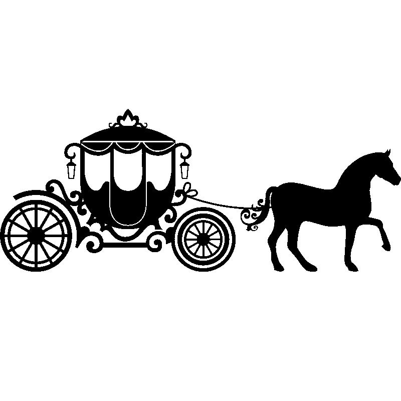 Cinderella Carriage Silhouette.