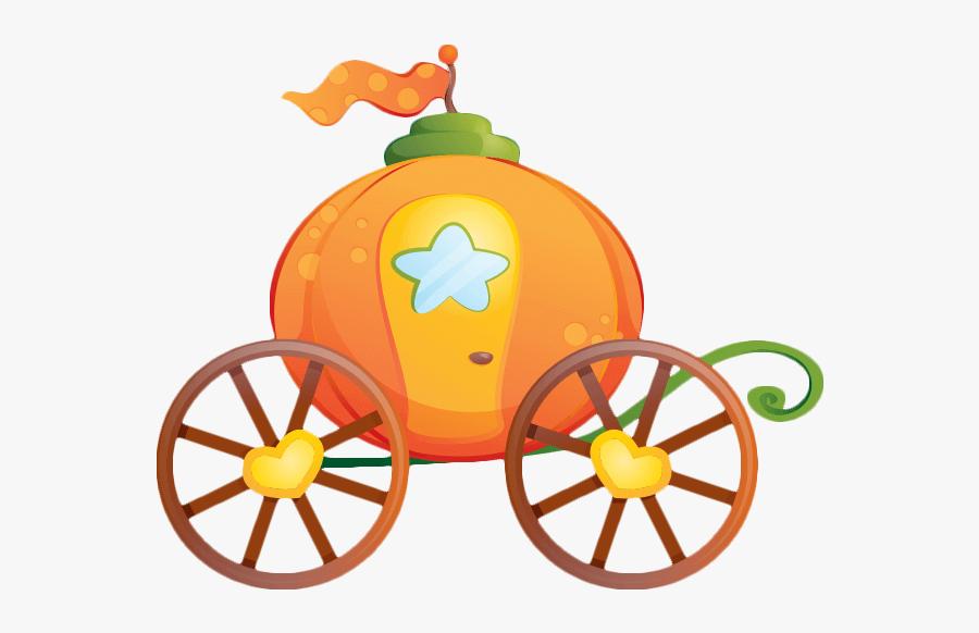 Cinderella Pumpkin Carriage Sticker Clip Art.