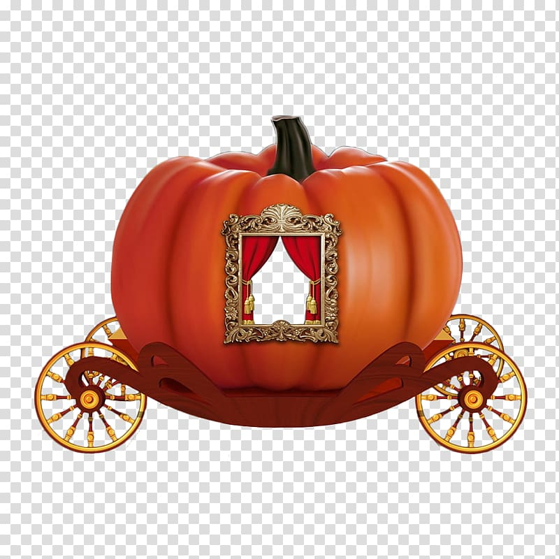 Orange and red Cinderella carriage , Cinderella Pumpkin.