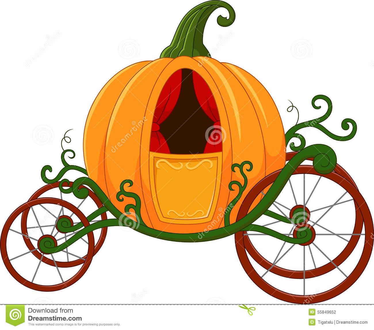 Cinderella Pumpkin Carriage Clipart.