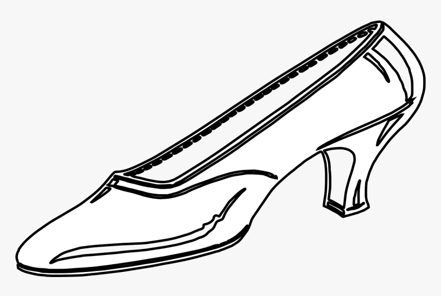 Cinderella Glass Slipper Black And White, HD Png Download.