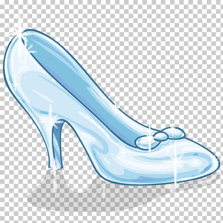 Slipper Cinderella Shoe , sandal, glass shoes illustration PNG.