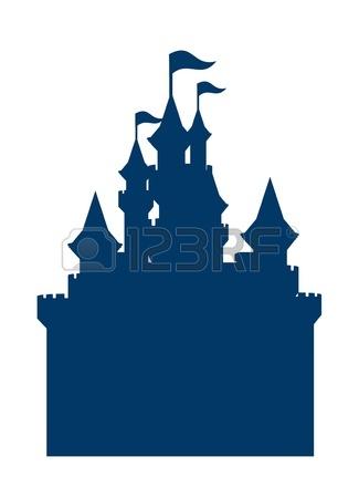 Cinderella castle clipart silhouette.