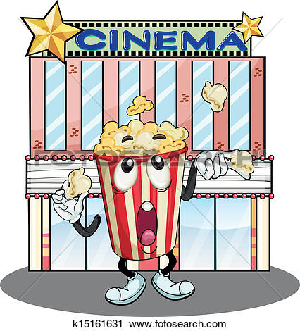 Clipart of A popcorn at the cinema k15161631.