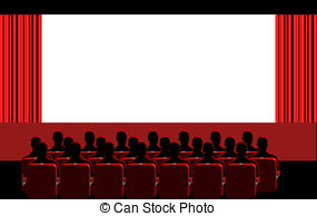 people at the movies clipart #18