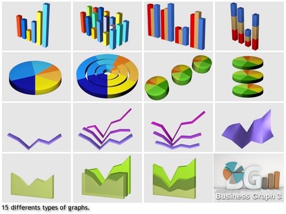 3D Business graphs plugin for Cinema4D.