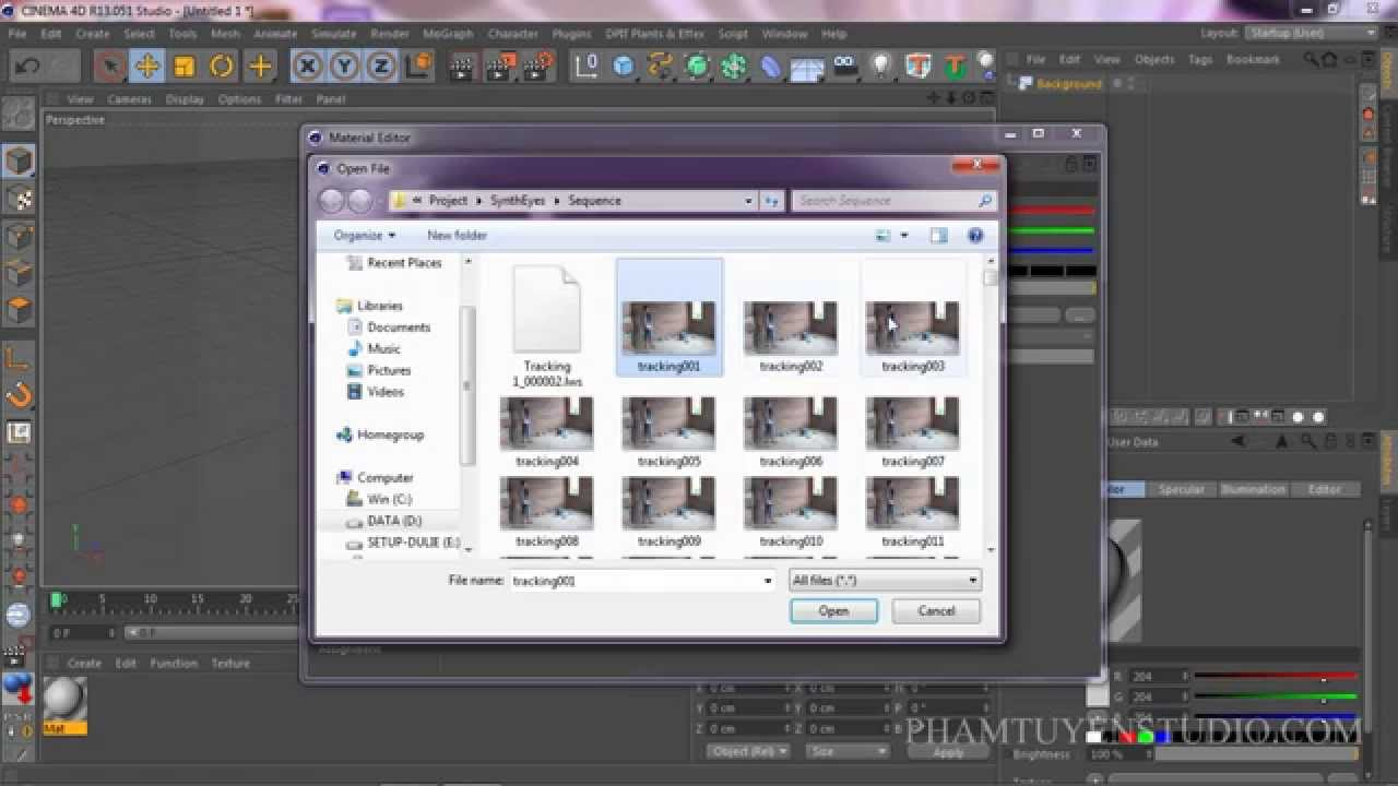 How to import images sequence in Cinema 4D.